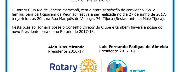 Convite: Posse do Novo Presidente e Conselho Diretor 2018